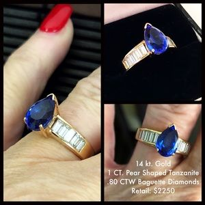 Jewelry - Tanzanite & Diamond Ring 14 K Gold